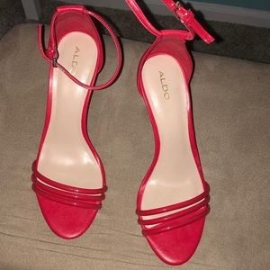 Red heels worn once great condition